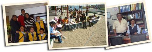 Prensa escolar en La Casa del arbol- Tren lector en Pachacutec- Prof. Colver Castro y Dir. Olga Camarena